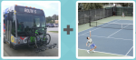 Bike Bus Route Tennis Serve Court