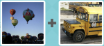 Pictoword Brands level 11 - Hot Air Balloons School Bus