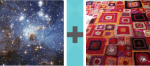 Pictoword Games level 4 - Stars Space Cosmos Galaxy Rug Mat Carpet Crafts Patchwork
